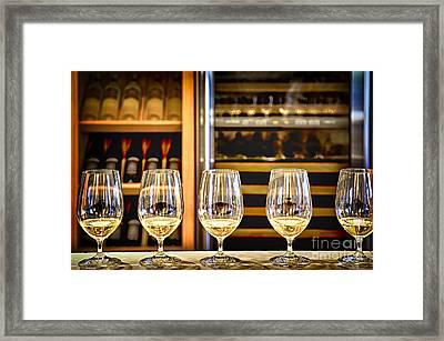 Wine Tasting  Framed Print by Elena Elisseeva