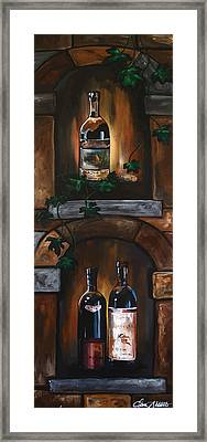 Wine Trio Framed Print by Dani Abbott