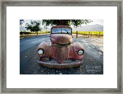 Wine Truck Framed Print by Jon Neidert