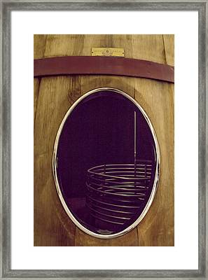 Wine Vat Framed Print by Georgia Fowler