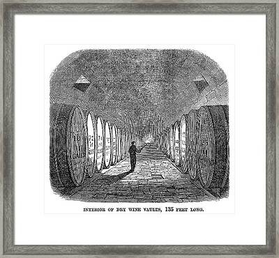 Winemaking Vault, 1866 Framed Print by Granger