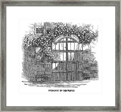 Winemaking Wine Vault Framed Print by Granger