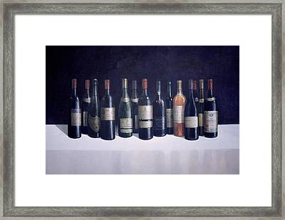 Winescape Framed Print by Lincoln Seligman