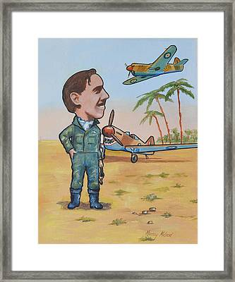 Wing Cdr.clive Caldwell Framed Print by Murray McLeod