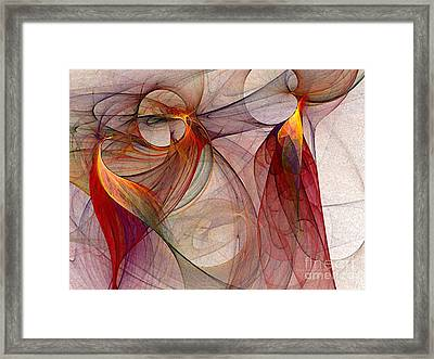 Winged-abstract Art Framed Print by Karin Kuhlmann