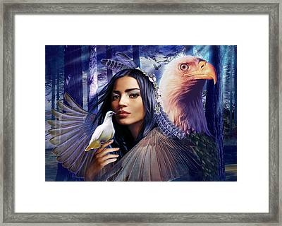 Winged Bretheren Land Variant 1 Framed Print by Andrew Farley