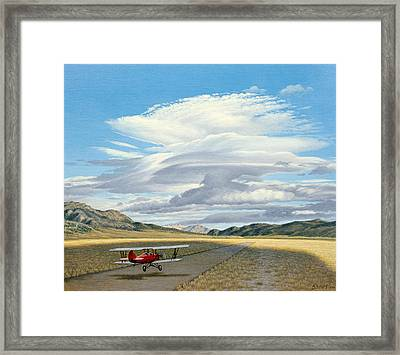 Winged Dreams -travelaire Biplane Framed Print by Paul Krapf