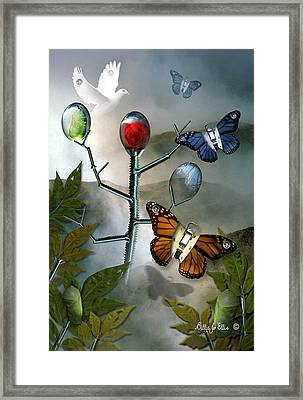Winged Metamorphose Framed Print by Billie Jo Ellis