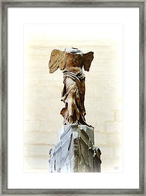 Winged Victory Of Samothrace Framed Print by Conor OBrien