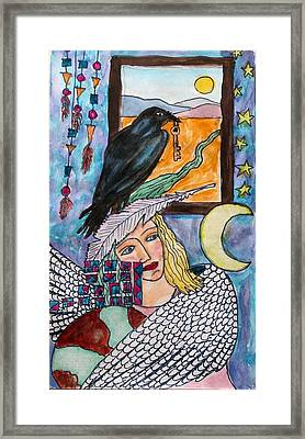 Winged Woman Framed Print by Linda Marcille