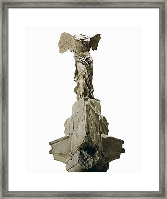 Wingel Victory Of Samothrace Or Nike Framed Print by Everett