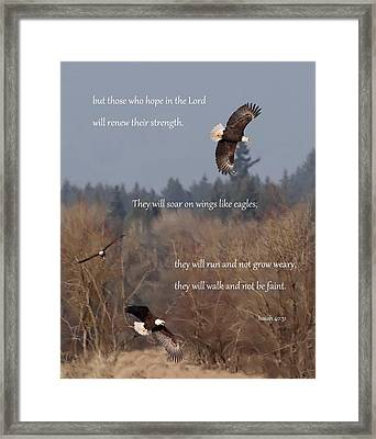 Wings Like Eagles Framed Print by Angie Vogel