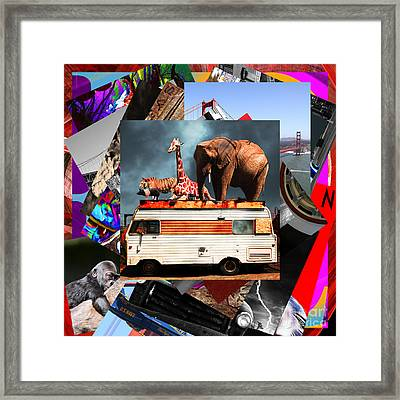 Wingsdomain Art And Photography Collage 20130108 V4 Framed Print by Wingsdomain Art and Photography