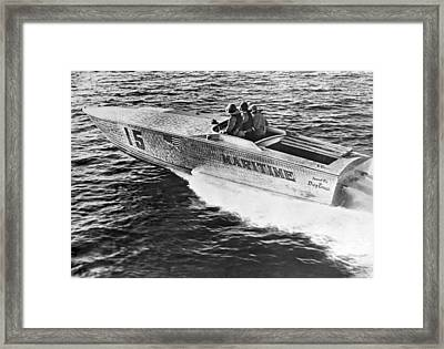 Winner Of The 180 Mile West Palm Beach To Lucaya-freeport Gatewa Framed Print by Underwood Archives
