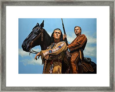 Winnetou And Old Shatterhand Framed Print by Paul Meijering