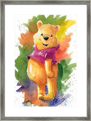 Winnie The Pooh Framed Print by Andrew Fling