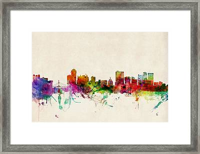 Winnipeg Skyline Canada Framed Print by Michael Tompsett