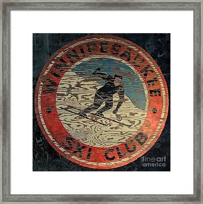 Winnipesaukee Ski Club Framed Print by Mim White