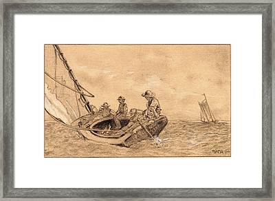 Winslow Homer, American 1836-1910, Breezing Framed Print by Litz Collection