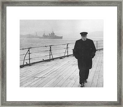 Winston Churchill Framed Print by English Photographer
