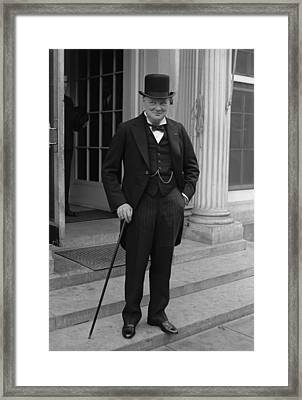 Winston Churchill Framed Print by War Is Hell Store