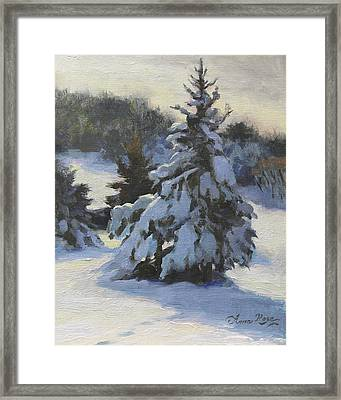 Winter Adornments Framed Print by Anna Rose Bain