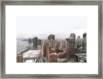 Winter Afternoon - Above New York City Framed Print by Vivienne Gucwa
