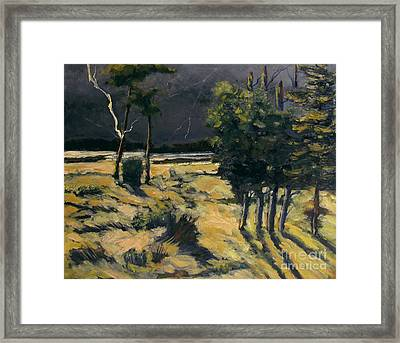 Winter And Spring Ravaged Eel River Framed Print by Charlie Spear