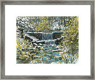 Winter At Iargo Springs Framed Print by Robin  Pelton