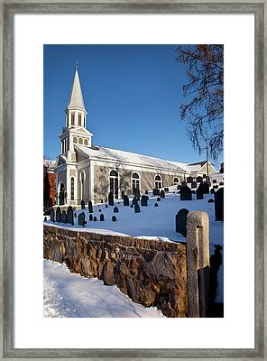 Winter At Saint Bernard Catholic Church Framed Print by Brian Jannsen