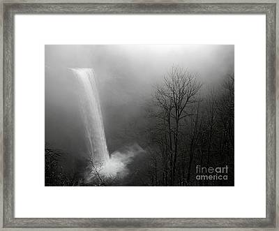 Winter At Silver Creek Falls Framed Print by Nick  Boren