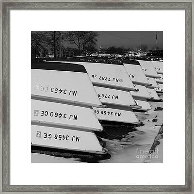 Winter At The Marina Framed Print by Paul Ward