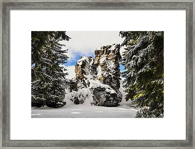Winter At The Stony Summit Framed Print by Aged Pixel