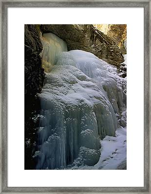 Winter At Zapata Falls Framed Print by Ellen Heaverlo