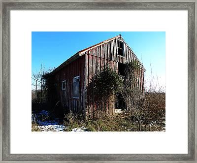 Winter Barn Framed Print by Richard Reeve