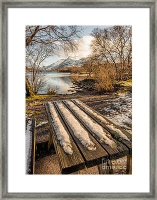 Winter Bench  Framed Print by Adrian Evans