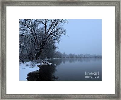 Winter Blues Framed Print by Carol Groenen