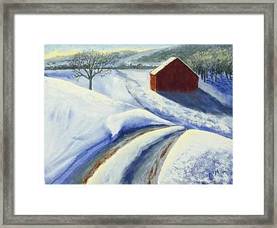 Winter Blues Framed Print by Garry McMichael