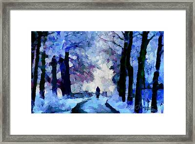 Winter Blues Tnm Framed Print by Vincent DiNovici