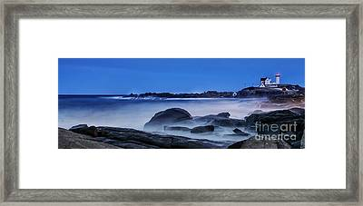 Winter Bomb Hits Nubble Framed Print by Scott Thorp