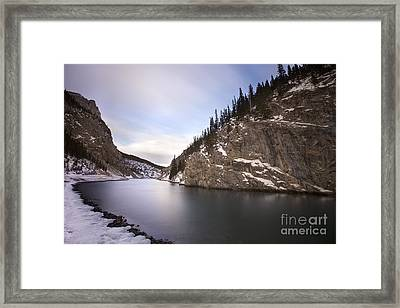 Winter Calm Framed Print by Evelina Kremsdorf