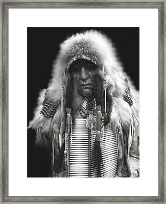 Winter Chief B W Framed Print by Daniel Hagerman