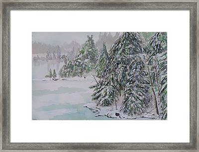 Winter Chill St Lawrence River Framed Print by Robert P Hedden