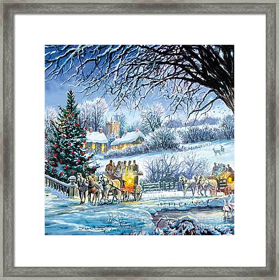 Winter Coaches Framed Print by Steve Crisp