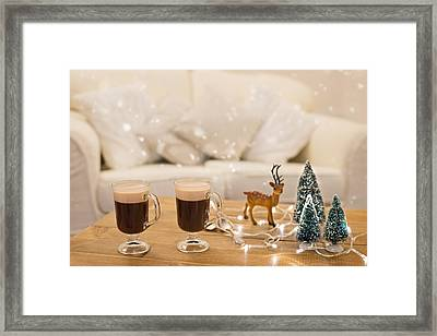 Winter Coffee Framed Print by Amanda And Christopher Elwell