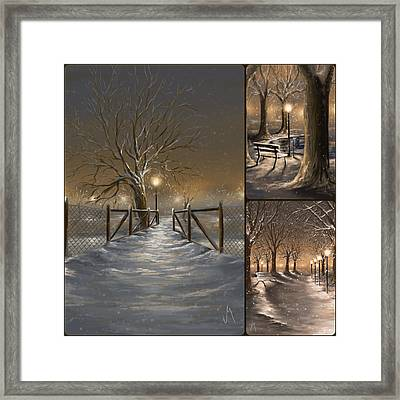 Winter Collage Framed Print by Veronica Minozzi