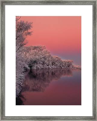 Winter Color Framed Print by Leland D Howard