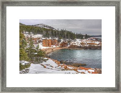 Winter Cove Framed Print by Robert Saccomanno