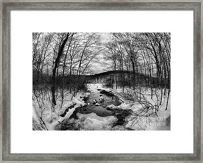 Winter Creek Framed Print by Mark Miller