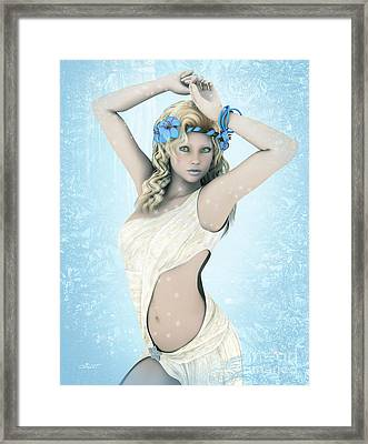 Winter Dancer Framed Print by Jutta Maria Pusl